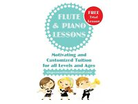 FLUTE and PIANO Lessons