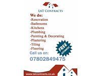 Handy man / Kitchen / Bathroom / Bedrooms / Joinery / Plumbing / Tiling / General services