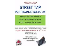 Street Tap Classes with Dance Wales UK