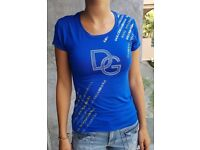 Blue D&G t-shirt size S new