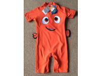 BNWT Boys Nemo Sun Protection Swimwear 4 - 5 Years