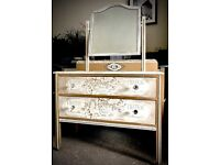 Vintage hand painted dressing table