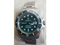 Ceramic'Hulk' Rolex Submariner with Glidelock bracelet/Engraved rehault+Box and papers*£140 without*