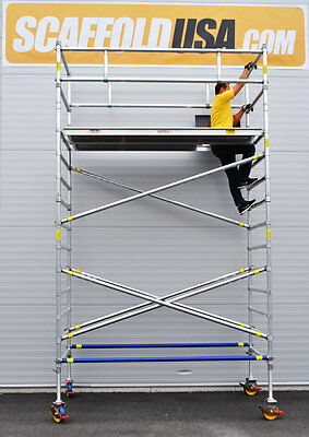 Scaffold Usa 11 Ft Double Wide Aluminum Mobile Scaffold Tower