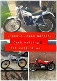 Classic Bikes and parts WANTED!! Fast collection