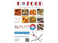 Korean Food Festival on 26 May at Castle st Church
