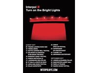 Interpol Tickets x 2 - Alexandra Palace - Turn on the Bright Lights Tour