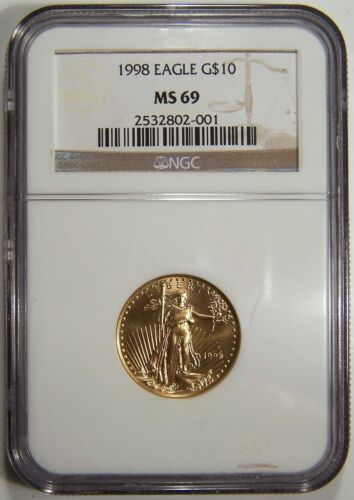 1998 $10 gold eagle NGC MS 69
