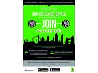 Be part of a great group - join the secret battle of London in a free game that gets you moving