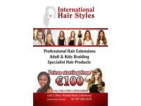 HAIR EXTENSION, HAIR BRAIDING, WIGS, PONYTAILS in LETTERKENNY