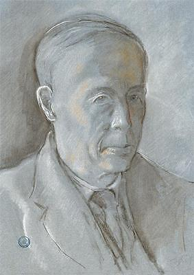 MALE PORTRAIT Pastel Drawing c1925 WALTER SICKERT Pupil FRANK GRIFFITH