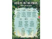 Abode in the park 2x tickets
