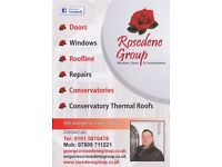DOUBLE & TRIPLE GLAZING - UPVC AND COMPOSITE DOORS - CONSERVATORY - ROOFLINE & CLADDING - REPAIRS