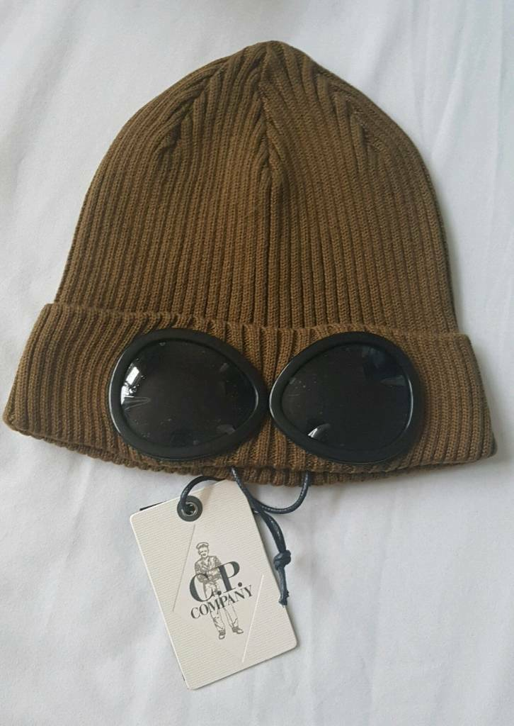 Superme Company Goggle Mens Beanie Knitted Woolly Winter Hats Cap Green