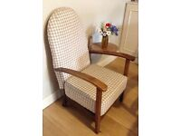 Antique victorian occasional chair