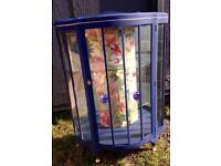 Bespoke beautiful Upcycled Retro/Vintage glass display cabinet