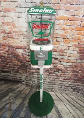 SINCLAIR dino gas gumball machine penny machine glass bar sign man cave gift