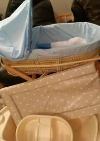 Moses basket, baby mat, baby bath, wash bowl