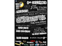Night of Punk Rock, Ska and Reggae @ The Junction, Redhill, 9th December
