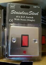 Stainless steel 45a switch with neon