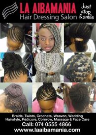 Weavon, braids Twists crochets, Fake locks, pédicure manucure, face Care..