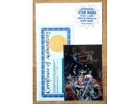STAR WARS Autographed DARTH VADER Postcard