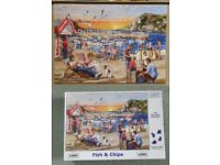 "House of Puzzles Jigsaw ""Fish & Chips"" 1000 piece jigsaw."