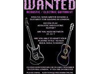 Soulful Singer Seeking Guitarist for gigging in London