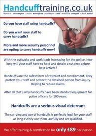 Handcuff Training London | Saturday 28 May 10am to 2pm | A few spaces left!