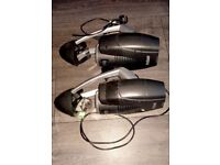 ProSound Preva Moonflower Motorised LED Disco Light x 2, plus t-bar stand