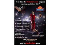 Join Now Basketball Leagues starting in April/May 2017... Come Out & Play !