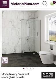 BNIB glass shower screen