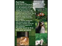 Pet Pride provides a caring professional service to suit your needs. Peace of mind whilst away.