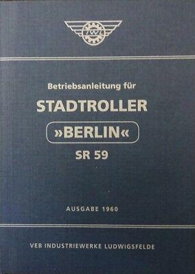 Betriebsanleitung IWL Berlin Roller SR 59 wie Wiesel SR 56 IFA blau DDR STIL