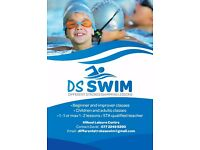 Swimming lessons for kids and adults.