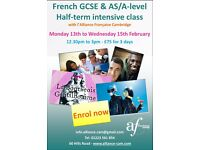 Half-Term Intensive French Preparation for GCSE & AS/A Level