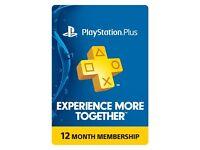 PlayStation Plus 12 month membership code