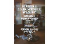 Barber & Hairdresser Wanted