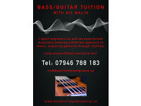 Bass / Guitar tuition and guidance. Easton, Bristol based with own transport