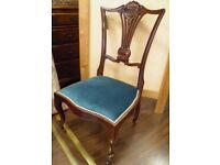 Gorgeous Mahogany Refurbished Nursing Chair - WE CAN DELIVER