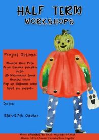 Half Term Workshops art-K Reigate