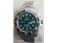 *PREMIUM* 'Hulk' Rolex Submariner with Gludelock bracelet/Engraved rehault/Lasered logo&Serial no.