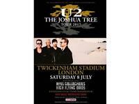 1 X Standing Ticket U2 Joshua Tree Tour, twickenham, London, 8th July 2017