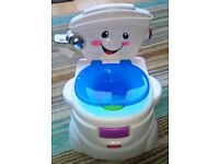 Potty & toilet trainer - by Fisher Price (vgc)