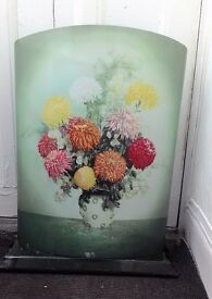Vintage Worcester Ware Tin Fire Screen/Guard