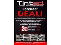 WINDOW TINTING 20% OFF ALL TINTS ON DECEMBER!