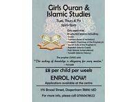 Girls Quran & Islamic studies Dagenham