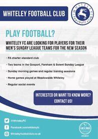 Sunday League Team recruiting players for 2018/19 season!