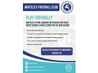 Sunday League Team recruiting players for 2018/19 season!