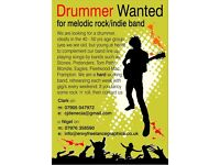 Drummer wanted for melodic rock/indie band